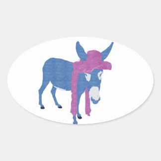 Denim Jenny Oval Sticker