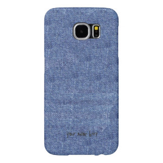 Denim Look and Your Name Samsung Galaxy S6 Case