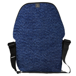 Denim Look Courier Bag