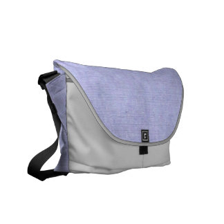 Denim Look Messenger Bag