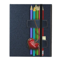 Denim Look Pencil Case Teacher iPad Case