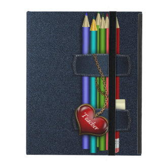 Denim Look Pencil Case Teacher iPad Case
