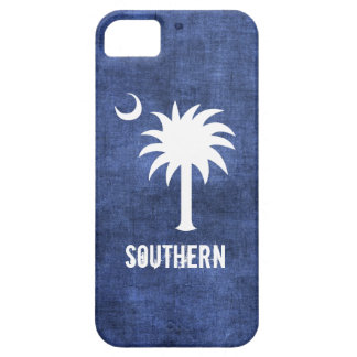 Denim Look South Carolina Palmetto Tree iPhone SE/5/5s Case