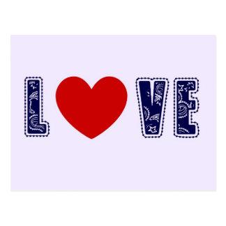 Denim Love Postcard