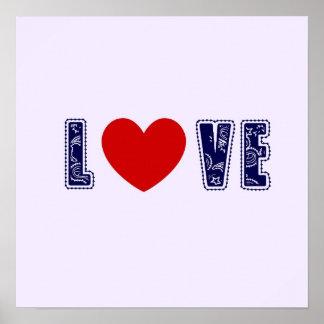 Denim Love Poster