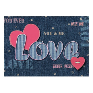 Denim Love Valentine s Day Gift Tag Business Card Templates