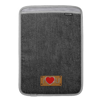 Denim Love. Valentine's Day Gift  iPad Sleeve