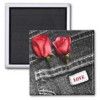 Denim Love. Valentine's Day Gift Magnet