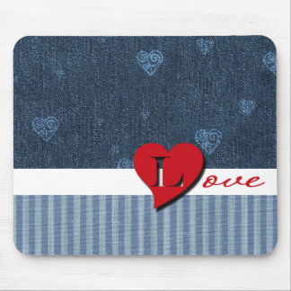 Denim Love. Valentine's Day Gift   Mousepad