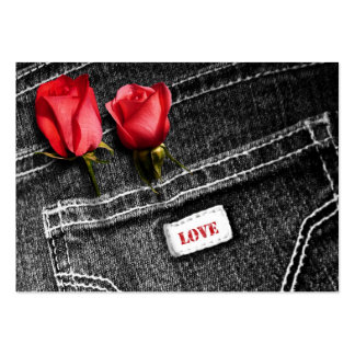 Denim Love. Valentine's Day Gift Tag Large Business Card