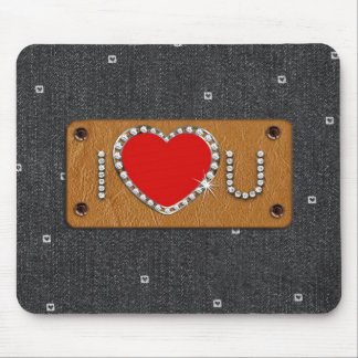 Denim Love. Valentine's Day Greeting Gift Mousepad