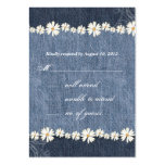 Denim n Daisies Wedding Response Card Business Card Templates