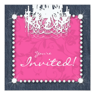 denim_n_diamonds_wedding_chandelier_floral_pink_card rbc49939860a74a8e80a9ead39aa6bcc8_zk9yv_324?rlvnet=1 thirty one invitations & announcements zazzle,Thirty One Invitations