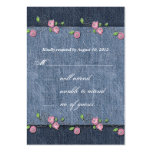 Denim n Roses Wedding Response Card Business Card Templates