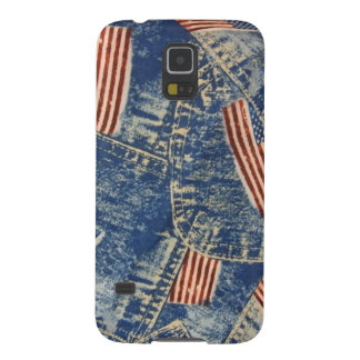 Denim & Old Glory Case For Galaxy S5