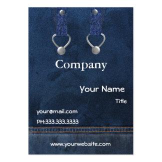 denim overalls Business Cards