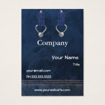 denim overalls Business Cards