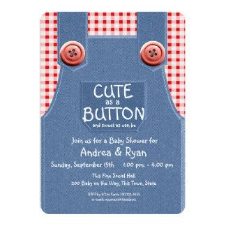 Denim Overalls Cute as a Button Card