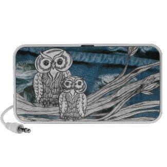 Denim Owls doodle