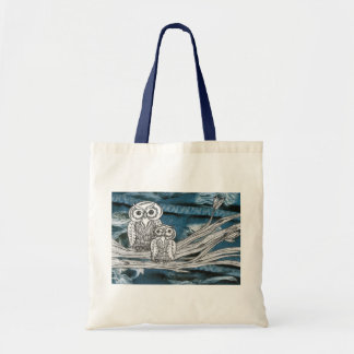 Denim Owls Tote bag Budget Tote Bag