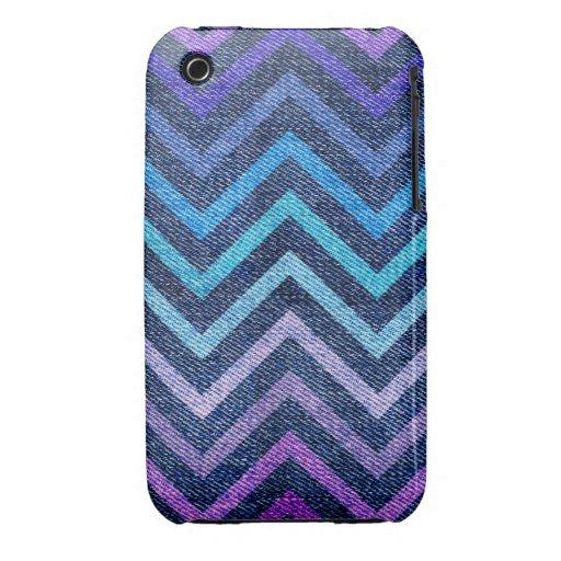 Denim Pastel Chevron iPhone 3 Cover