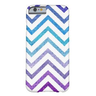 Denim Pastel Chevron White Barely There iPhone 6 Case