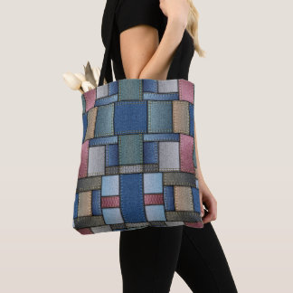Denim Pattern Tote Bag