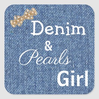 Denim & Pearls Girl (tm) Stickers
