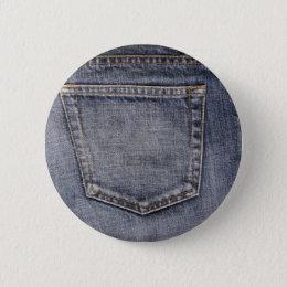 Denim Pinback Button