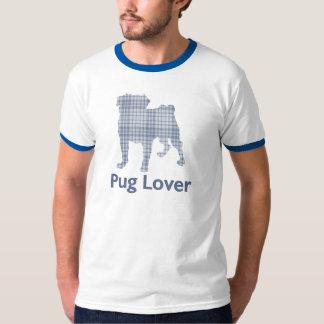 Denim Plaid Pug T-Shirt