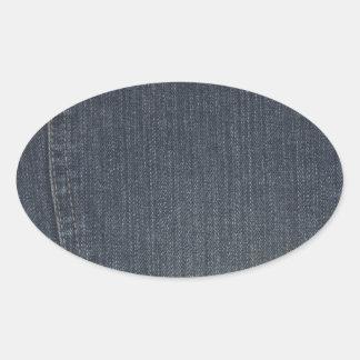 Denim Pocket Oval Stickers