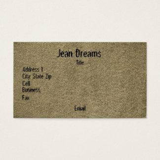 Denim (sepia) business card
