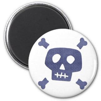 Denim Skull Magnet