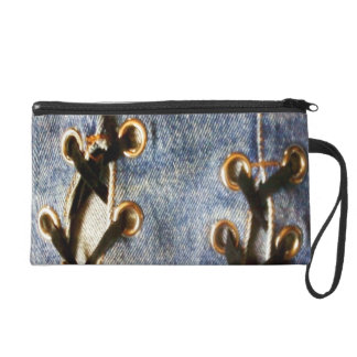 Denim Style From The 80's Wristlet Purse
