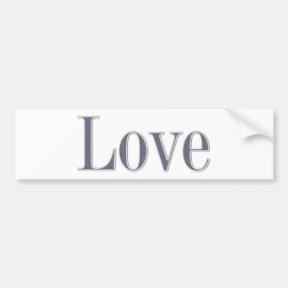 Denim style love bumper sticker