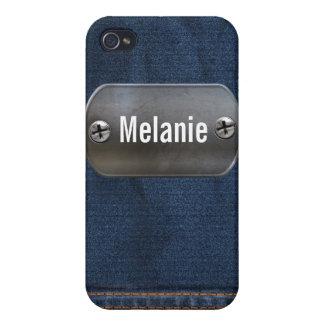 denim texture 4 casing iPhone 4/4S case
