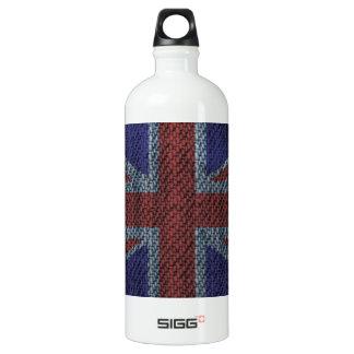 Denim Texture Pattern Union Jack British(UK) Flag Aluminum Water Bottle