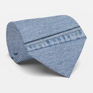 Denim Tie with Monogram
