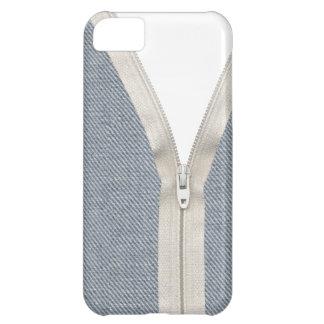 Denim unzipped case for iPhone 5C