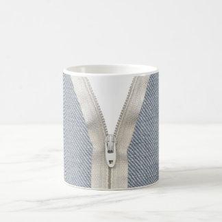 Denim unzipped coffee mug