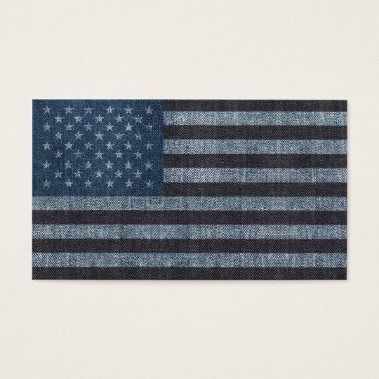 Denim USA flag business card