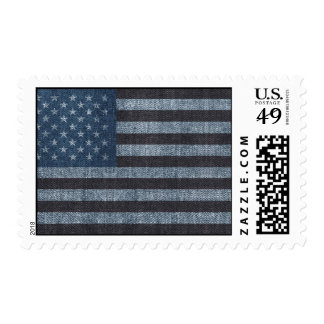 Denim USA flag postage