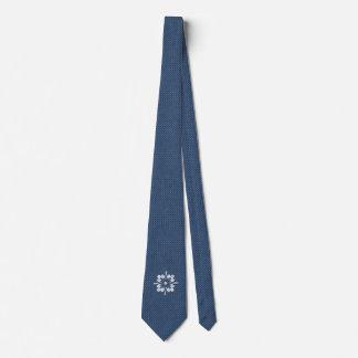 Denim Weave Design with Medallion Tie