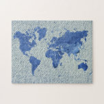 Denim World Map Jigsaw Puzzles