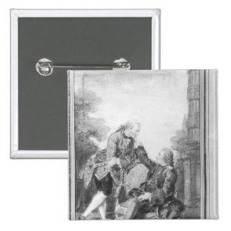 Denis Diderot y Melchior, barón de Grimm Pins