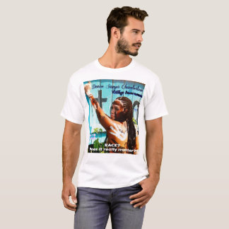 DENISE SAWYER CHAMBERLAIN T-SHIRT(BLUE FENCE) T-Shirt
