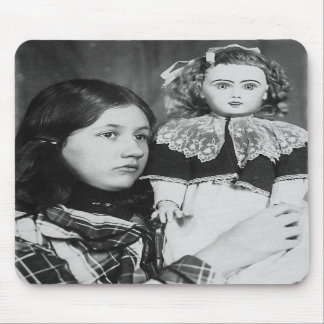 Denise Sitting Doll In Arms - Vintage Photo Mouse Pads