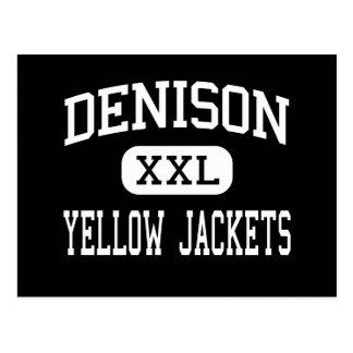 Denison - chaquetas amarillas - alto - Denison Tej Tarjetas Postales
