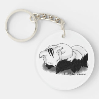 Denive - Fluffy Fox (double-sided) Keychain