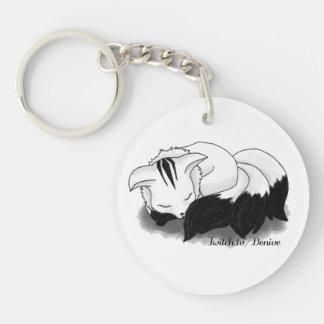 Denive - Fluffy Fox (double-sided) Keychain